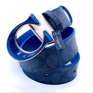 Coach Women's Signature Buckle Reversible Belt